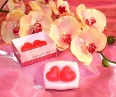 """Подарочное мыло ручной работы """"Сон двух сердец"""""""