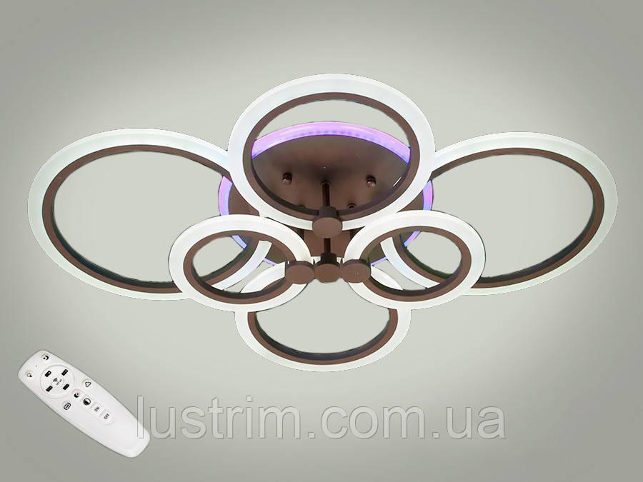 Светодиодная LED люстра с диммером и подсветкой, 100W