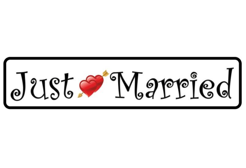 """Свадебные номера на авто """"Just Married"""""""
