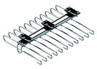 S - 6545, брючница выдвижная ,верхнего крепления, в секцию, 340х470х90мм, алюминий