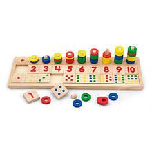 Деревянный обучающий набор Viga Toys Цифры и счет (59072)