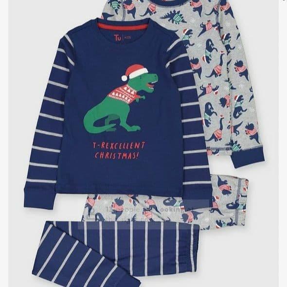 Пижама детская 110-116см TU kids с динозаирамы 2 комплекта