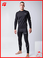 Термобелье мужское спортивное черного цвета для спорта Columbia зимнее термокомплект для бега теплый