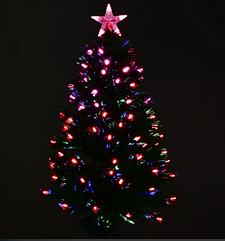 Новогодняя елка сосна искусственная разборная высота 90 см C 29326 с Led подсветкой 80 веток зеленая