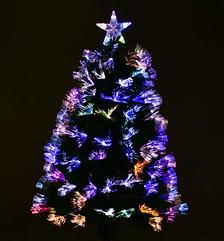 Новогодняя елка сосна искусственная разборная высота 90 см C 29328 с Led подсветкой 80 веток зеленая