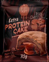 Протеиновое пирожное Fit Kit Тройной Шоколад  (70 грамм)