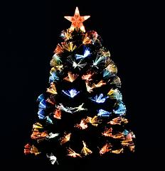 Новогодняя елка сосна искусственная разборная высота 90 см C 29325 с Led подсветкой 80 веток зеленая