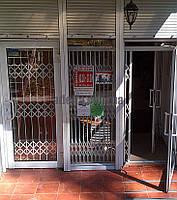 Раздвижная решетка на дверь Шир.4000*Выс2200мм для магазина, фото 1
