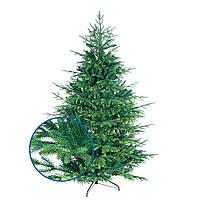 Искусственная елка новогодняя литая пушистая разборная с подставкой премиум класса