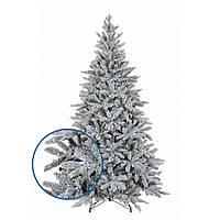 Искусственная заснеженная елка новогодняя литая пушистая премиум класса LED холодный белый 8 функций переключе