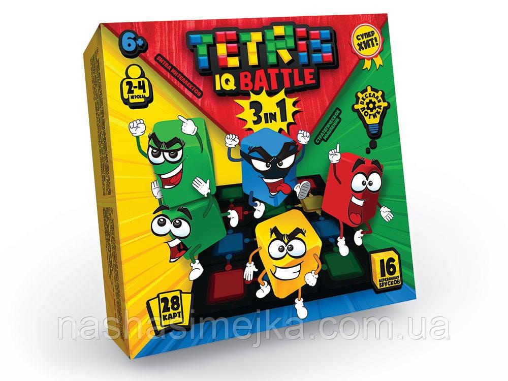 Tetris IQ Battle 3в1 Настільна гра для сім'ї та компанії (Danko Toys)