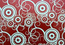 Трансферы Круги красные металлизированные 340х265 мм (Италия)