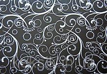 Трансфери Срібні візерунки на чорному 340х265 мм (Італія)