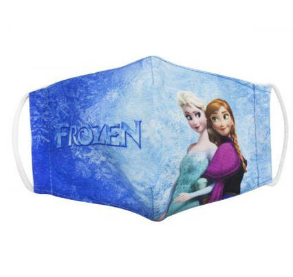 "Многоразовая 4-х слойная защитная маска ""Холодное сердце: Эльза и Анна"" размер 3, 7-14 лет mask2NEW"