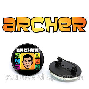 """Значок Спецагент Арчер """"Герой"""" / Archer"""