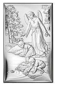 """Икона серебряная  """"Ангел-Хранитель"""" (6.5х11см) 18001 3L"""