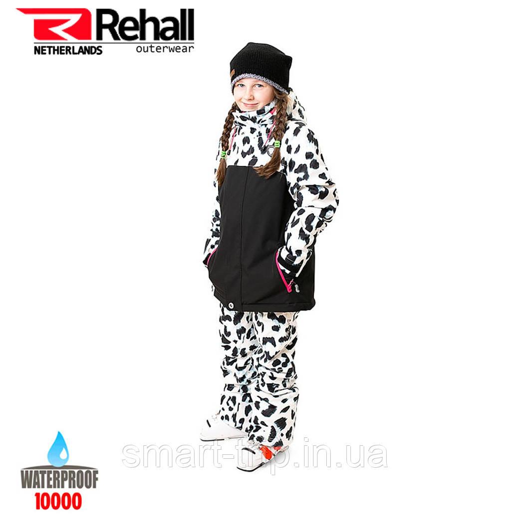 Детский горнолыжный костюм REHALL MAGGY-R-JR 164 white leopard (51020 1s)