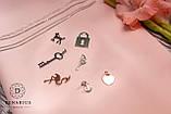 Подвеска серебряная с позолотой Фламинго (1.3г), фото 3