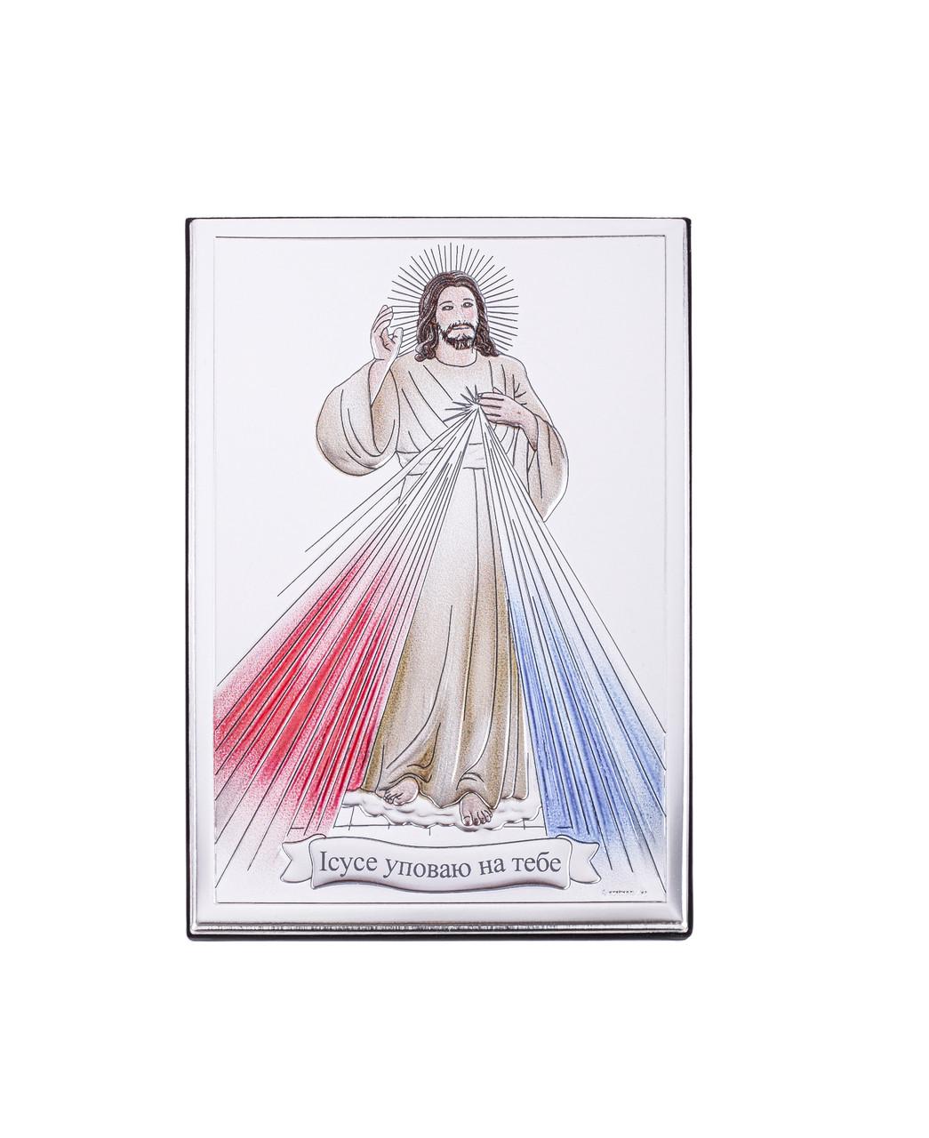 """Икона серебряная """"Иисус Милосердный"""" (6.5х11см) 80001 / 3L UCR"""