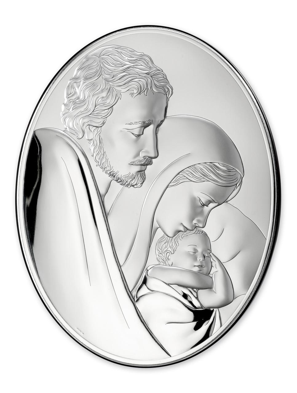 Икона серебряная Свяое Семейство  (10х13 см) 81242 3L