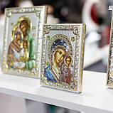Икона серебряная  Казанская Богородица (12х16см) 85302 3LCOL, фото 2