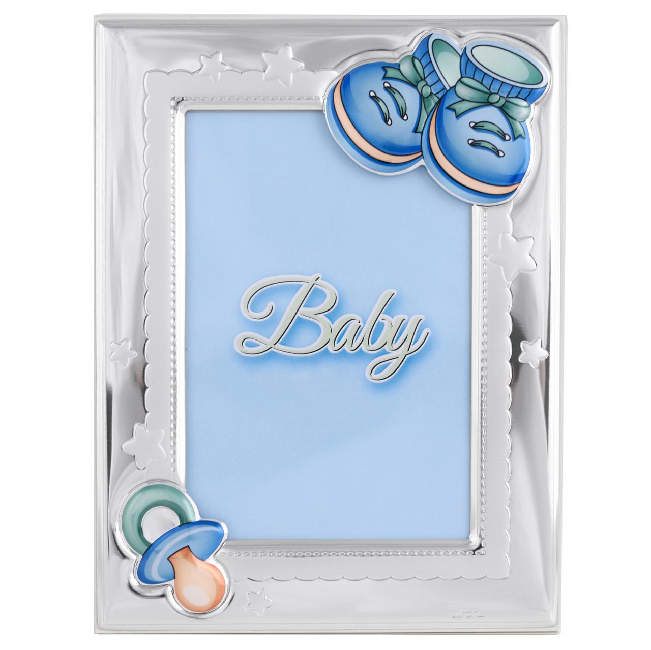 """Фоторамка серебряная """"Tiffany baby style"""" (фото 9x13см) 73116 3LC"""