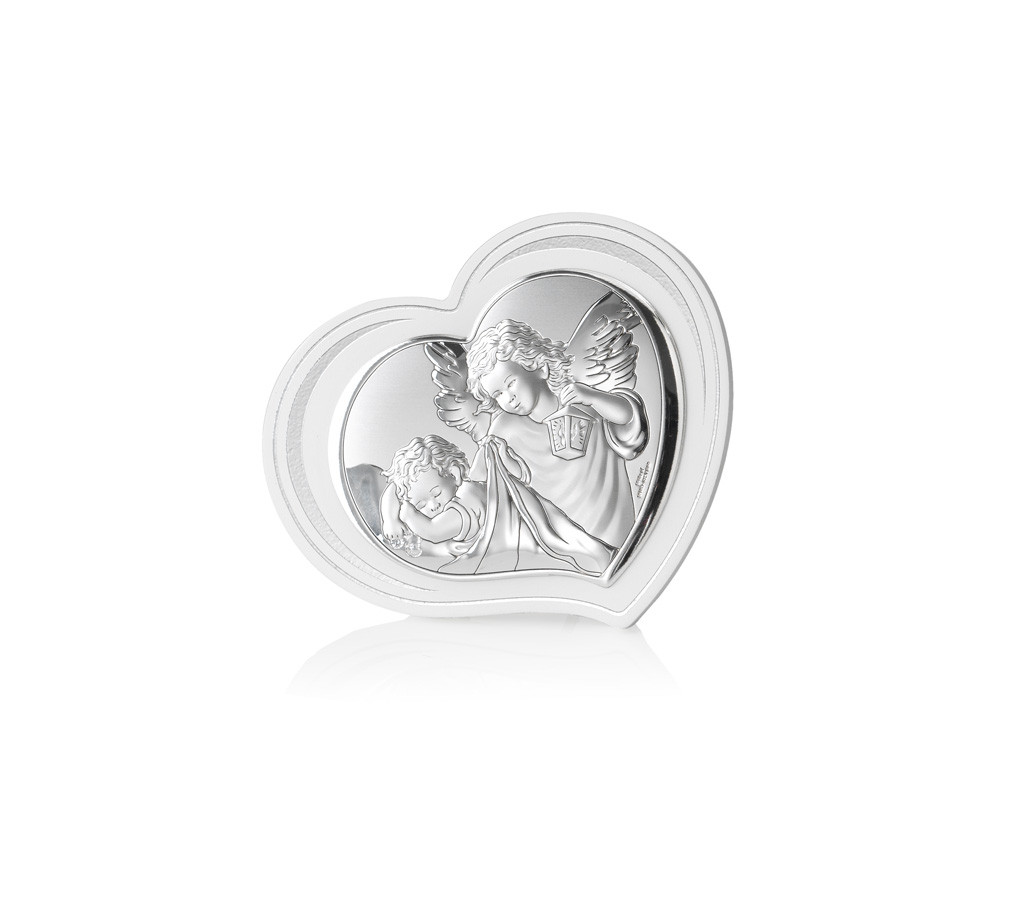 """Икона серебряная  """"Ангел-Хранитель"""" (14х12см) 81298.3L"""