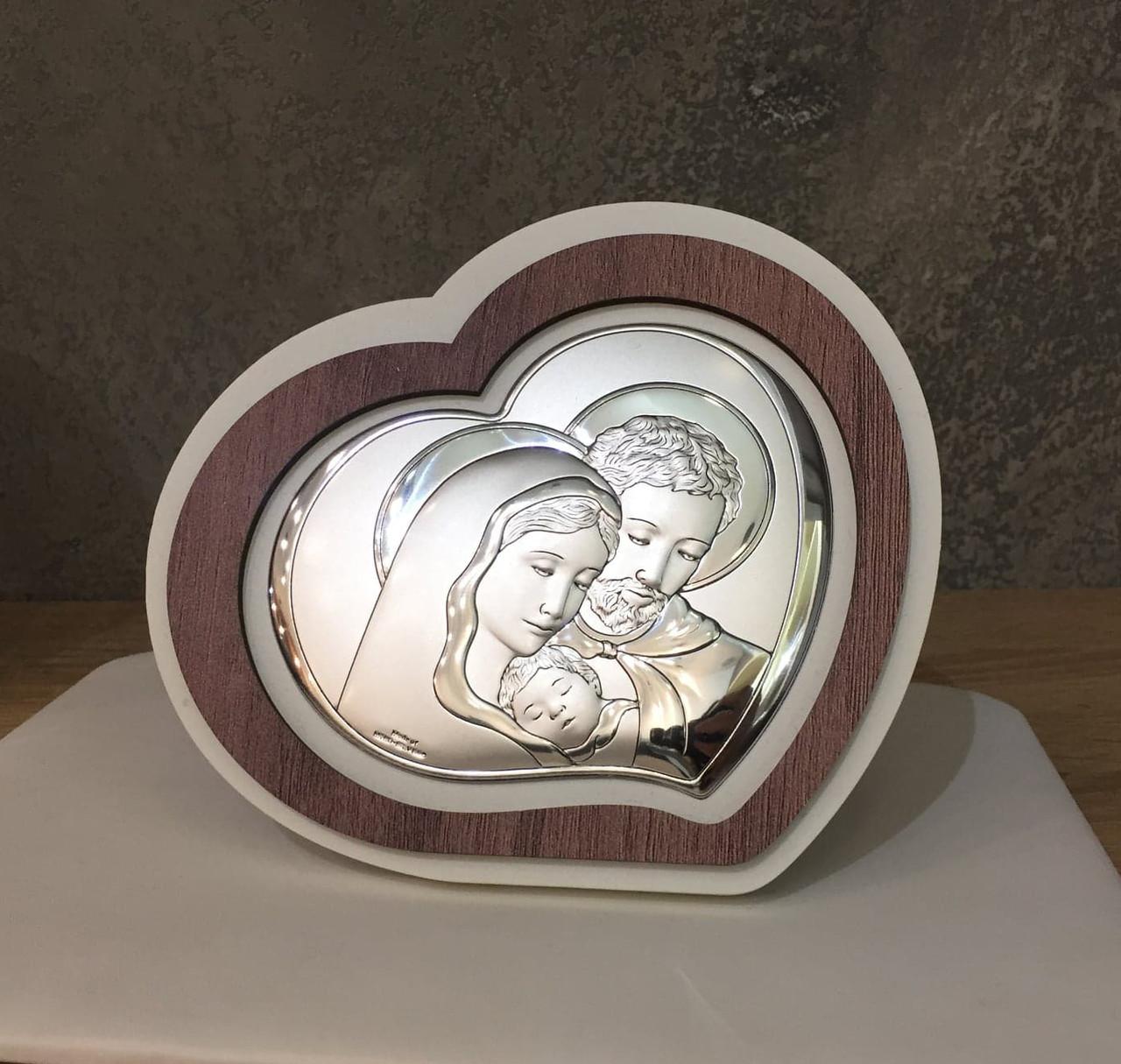 """Икона серебряная  """"Святая Семья"""" (21х18см) L220.3"""