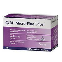 Иглы инсулиновые Микрофайн плюс 5мм, BD Micro-fine Plus 31G / Голки інсулінові BD Micro-fine Plus