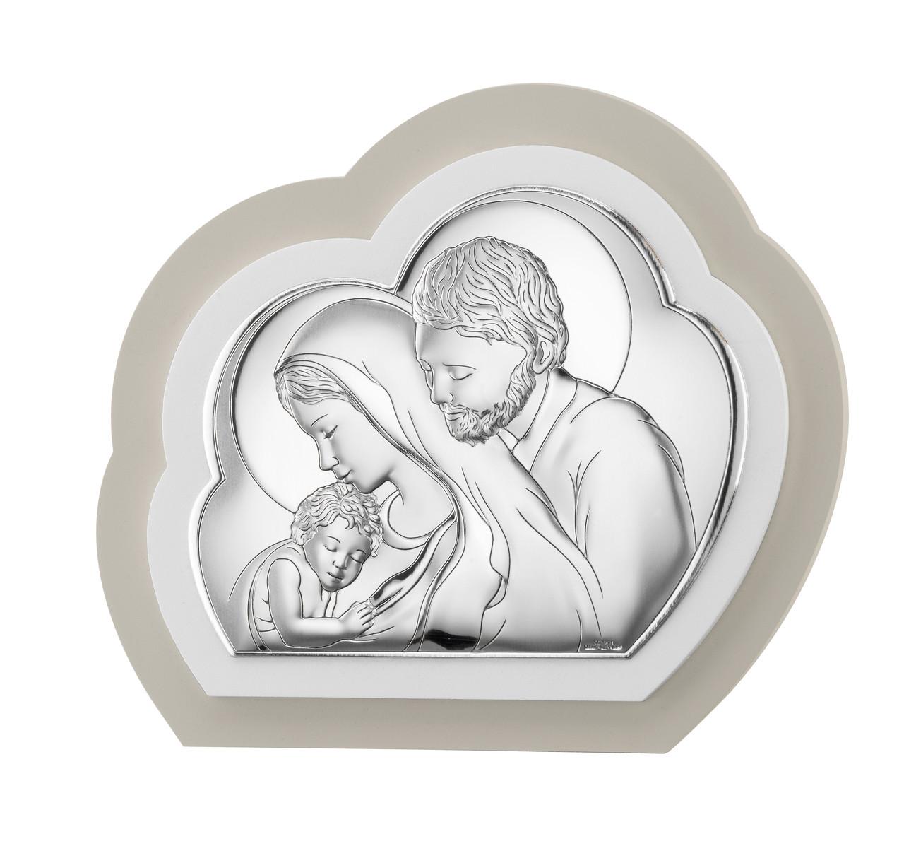 "Икона серебряная  ""Святая Семья"" (15.5х13.5см) TP 81245 2LGW"