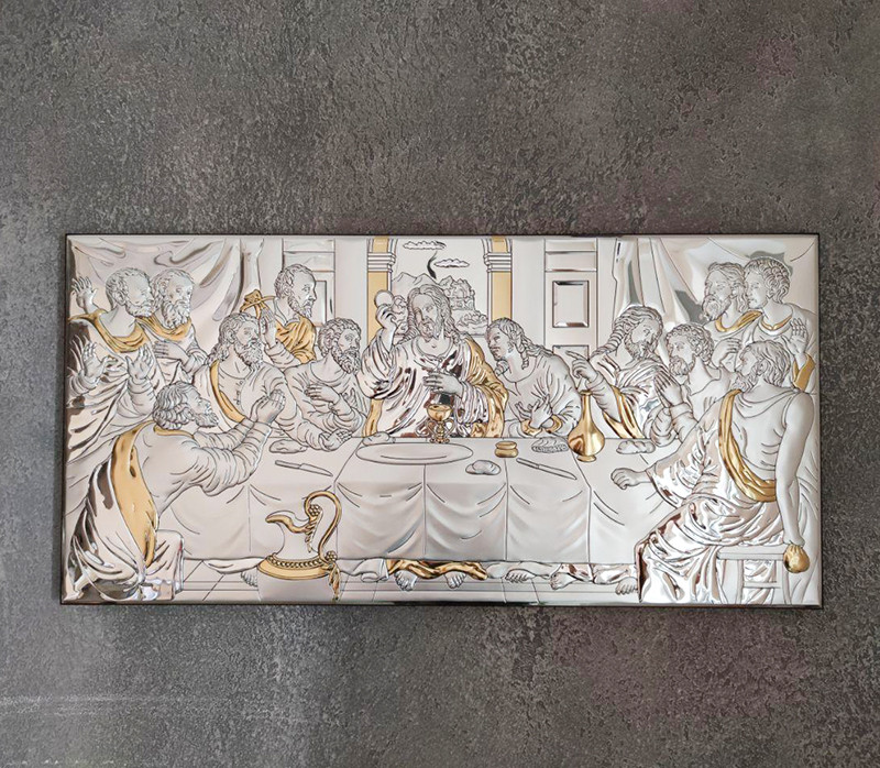 Икона серебряная Тайная Вечеря (65х32 см) 81323 / 8LORO