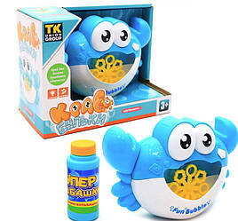 Установка для пускания мыльных пузырей Union Group Краб-бульки (голубой), свет, звук