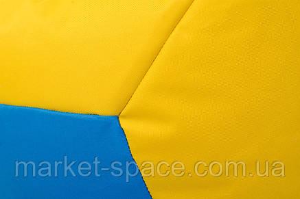 Кресло мяч «BOOM» 60см желто-синий, фото 2