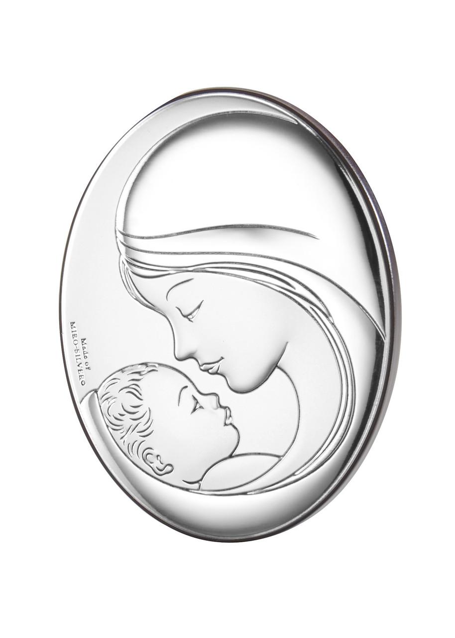 "Икона серебряная  ""Мадонна с Младенцем"" (7х9см) 81381 2L"