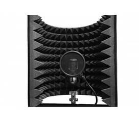 Акустический экран для микрофона Ecosound L 85 50х50 см Чёрный