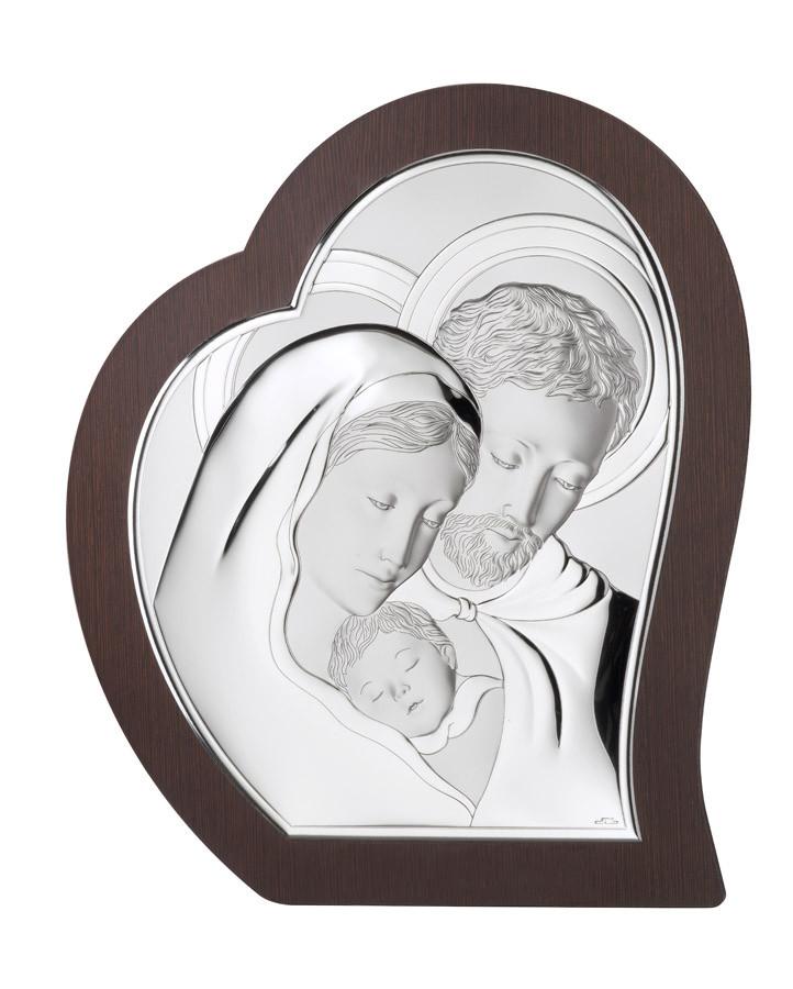 """Икона серебряная  """"Святая Семья"""" (26х31.5см) 81330.4L"""