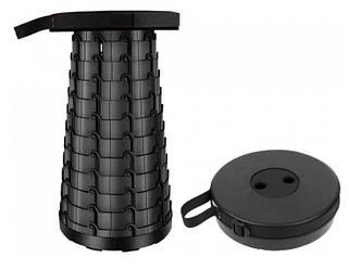 Складной походный табурет  Telescopic Stool Черный