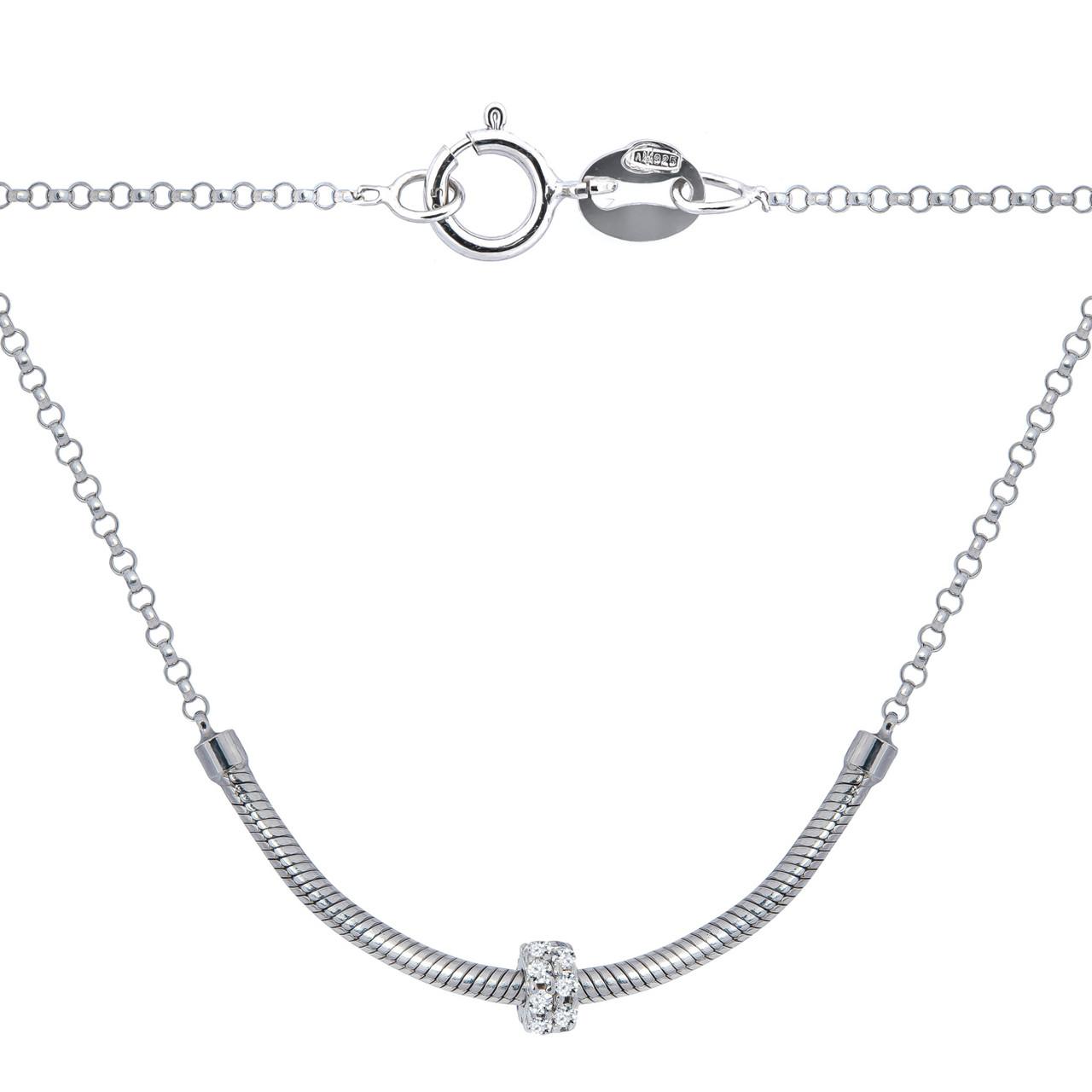 Серебряное колье в стиле Pandora (размер 45)