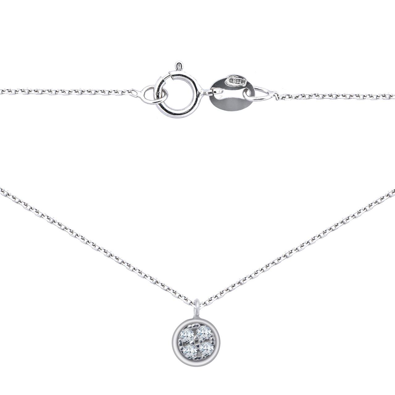 """Серебряная цепочка с подвеской """"Geometria"""" (размер 40)"""