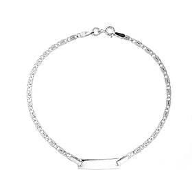 Серебряный браслет с пластинкой (размер 16)