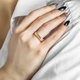 """Кольцо-американка """"Trinity"""" в комбинированном цвете золота (размер 18,5), фото 3"""