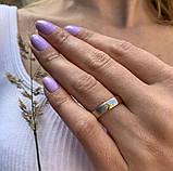 Кольцо из комбинированного золота с цирконом (размер 17,5), фото 2