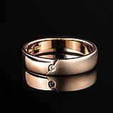 Кольцо из комбинированного золота с цирконом (размер 17,5), фото 3