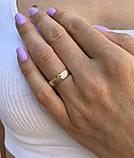 """Кольцо из комбинированного золота """"Волны любви"""" (размер 20), фото 3"""