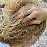 Широкое кольцо-американка из белого золота (размер 21), фото 2