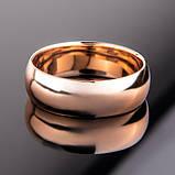 """Кольцо классическое радиальное из красного золота """"Classic"""" (6 мм) (размер 21), фото 2"""