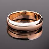 """Кольцо классическое радиальное из красного золота """"Classic"""" (4 мм) (16,5), фото 2"""