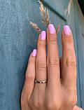 """Кольцо в белом золоте с бриллиантом """"Романтизм"""" (3мм) (размер 16,5), фото 2"""