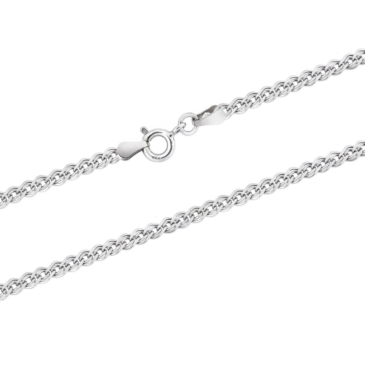 Серебряная узкая цепочка-нона (40)