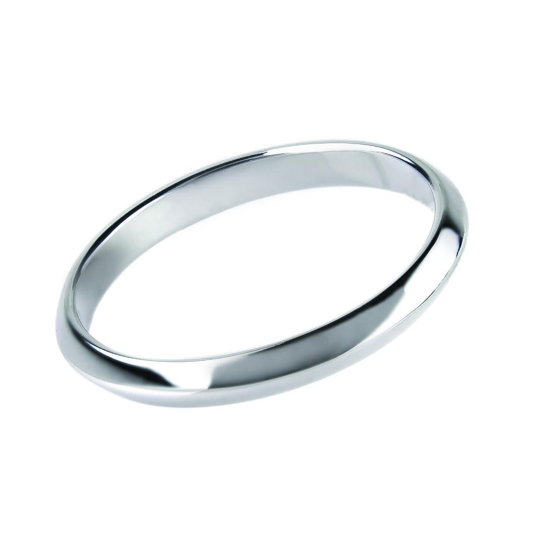 """Обручальное кольцо """"Острые чувства"""" в белом цвете золота, 2 мм (размер 21)"""